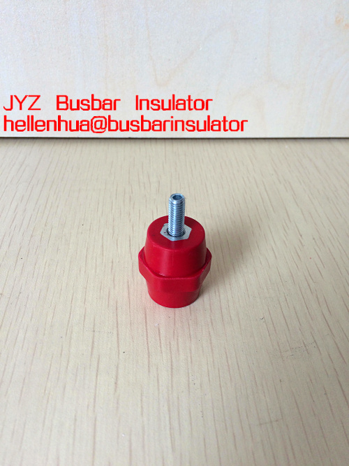 JYZ low voltage busbar insulator BMC material with brass insert M6