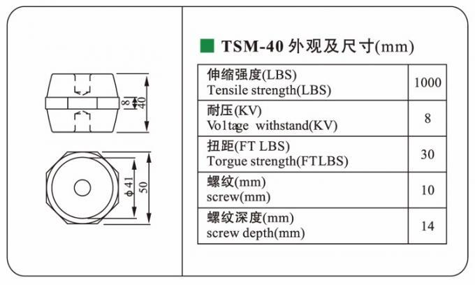 RoHS TSM-40 octagonal DMC busbar insulator connector low