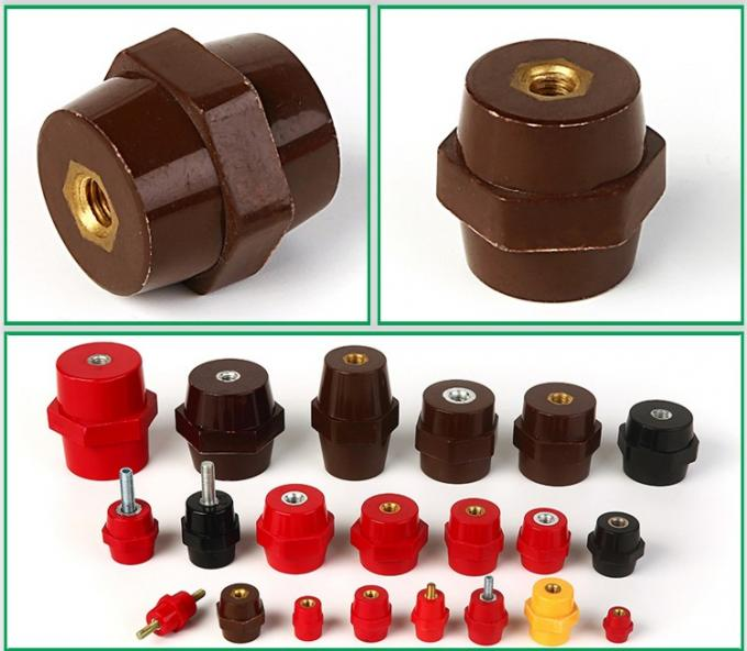 hexagonal red busbar insulator