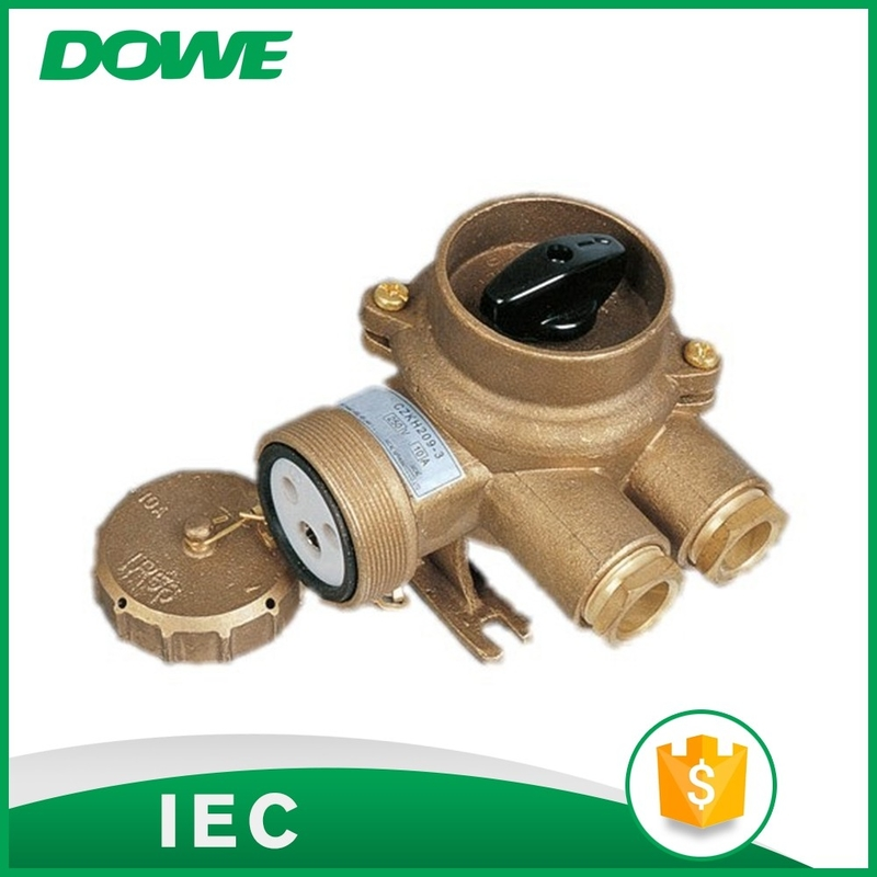 24V-500V brass material CZKH209 marine socket with switch