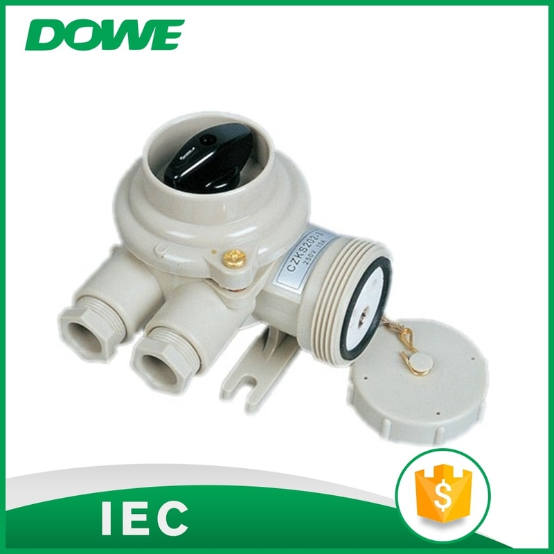 Watertight electric power CZKS202 off-on socket with switch
