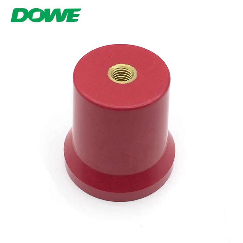 hot sale conical busbar support M10x60mm red colour used for green car