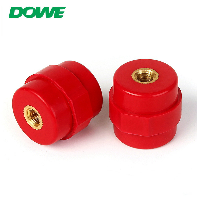 Delivery at Sight MOQ 1PC Brass Insert Glassfibre SM30 m6 electrical Bus Bar Insulator hexagonal insulator