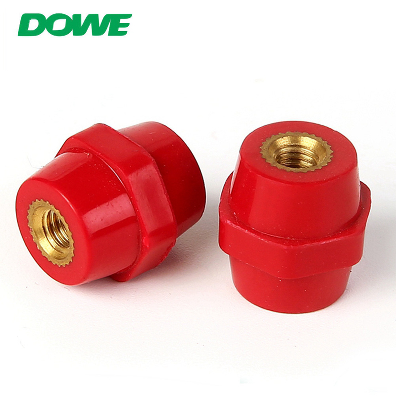 High Quality red hexagonal BMC Standoff busbar insulators