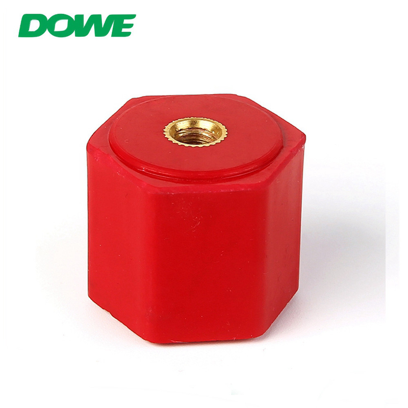 YUEQING DUWAI New Energy EN26x25 M6 BMC PF Brass Insert Hexagonal Busbar Support Insulators