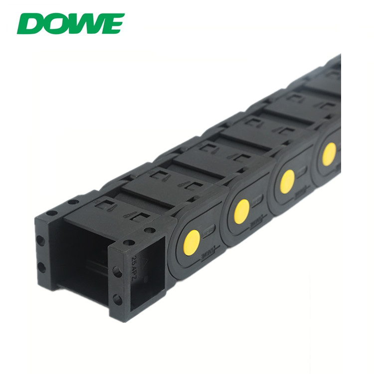 H25x77 Enclosed Towline Yellow Strength  Customized Combine Nylon Tow Chain
