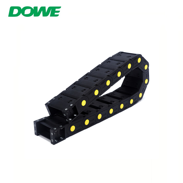 H20x50 Enclosed Yellow Strength Plastic Track Electric Cable Towing Chain