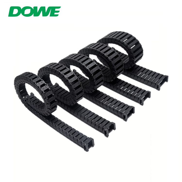 S25 Anti-Noise Inner 25mmx50mm Plastic Towline Drag Towing Chain For CNC