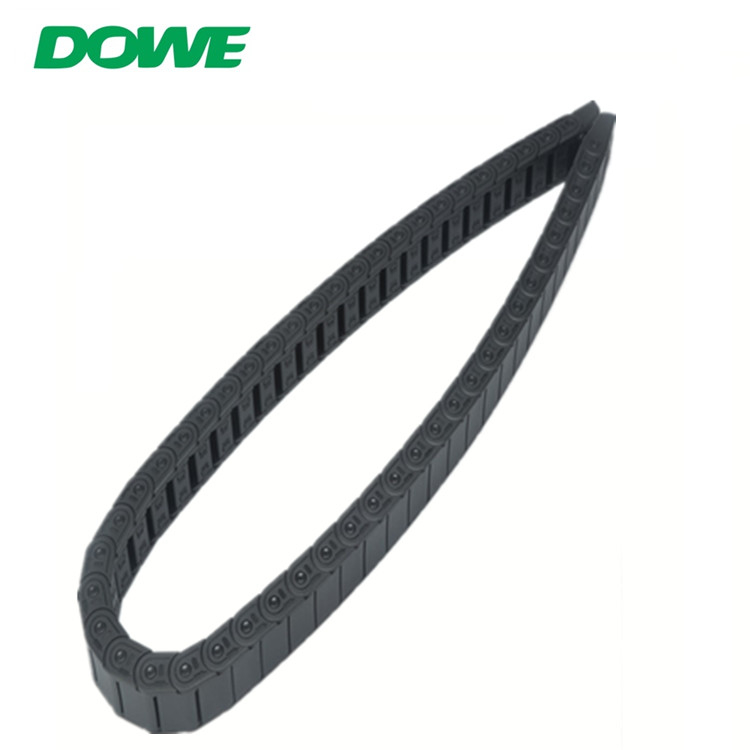 China Factory Supply 15mmx15mm Semi-Enclosed Type Interior Opening Cable Tow Chain Plastic Drag Towing Chain