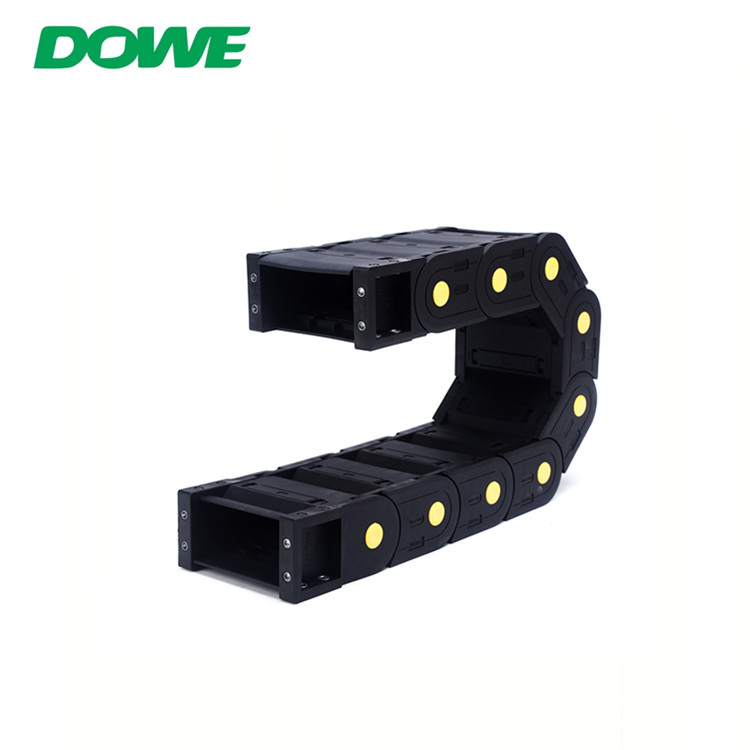 H40x100 Enclosed Towline Material PA66 Multicore Control Cable Towing Chain For CNC Conveyor Cable Drag Track