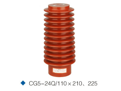 China 24kv epoxy resin Post insulator sensor for switchgear CG3-24Q/110*210 distributor